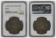 Ngc Mexico 1762 Pillar 8 Reales Charles Iii Spanish Colonial Silver Coin Vf25