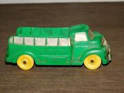 Vintage Made In Usa Toy 5 1/2 Long Rubber Plastic Auburn Green Truck