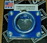 Banshee Trinity 2 Into 1, Engine Reed Cage Blue Intake Boot,carburetor Joint