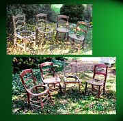Anitique Wooden Chairs Four 4 Chairs. And One Antique Swivel Chair Soon.