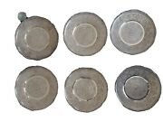 Set Of Six Solid Silver Pershian Middle Eastern Plates Dishes By Master Fadavi