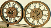 1928 1929 Ford Model A Oem 21 Inch Wheels Rims Pair 2 Good Used
