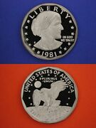 Type 2 Ii 1981 Sba Susan B Anthony Dollar Dp Cameo Proof Exact Coin Shown Oce 15