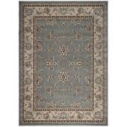 Admire Home Living Plaza Traditional Oriental Floral Scroll Grey 5'5 X 7'7/sur