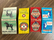 G Lot Of 4 Vintage 1930andrsquos-1970andrsquos Beer Alcohol Bar Matchbook Covers