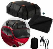 Zone Tech Car Travel Roof Cargo Carrier Bag Protective Rubberized Mat With Hooks
