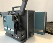 Bell And Howell 1552 Filmosound 16mm Movie Projector W Cover 1 Reel Extra Bulb