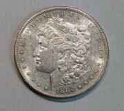 Choice Au 1884-s Morgan Silver Dollar No Issues Great Luster - C9042