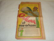 Vintage Cookery Of New Orleans Creole Black Americana Rare 1936 Newspaper Page