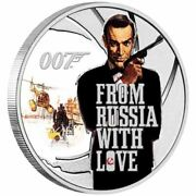 2021 Tuvalu 50 Cents James Bond 007 From Russia With Love 1/2 Oz Silver Coin