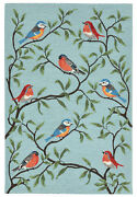 Area Rugs - Colorful Songbirds Indoor Outdoor Rug - 7and0396 X 9and0396 - Bird Rug