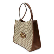 Tote Bag Hose Bit 1955 Gg Canvas Razor Beige Brown 623694 Women And039s Used S