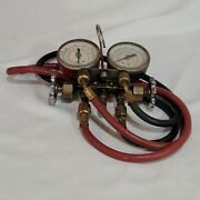 J/b Industries Recal Gauge With Refrigeration Charging Hoses R-22/r-12/r-502