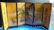 Wooden Chinese Antique Six Panel Table Screen