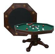 54 - 3 In 1 Game Table Bumper Pool Cards And Dining In Walnut Berner Billiards