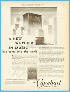 1929 Capehart Fort Wayne In Orchestrope Radio Phonograph Wonder In Music Ad
