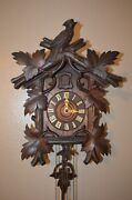 Antique German Black Forest Bird Crest Cuckoo Clock Early 1900and039s