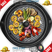 Indoor Electric Grill Bbq Cooker For Korean Samgyupsal Steak Round Portable 14