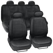 Pu Leather Seat Covers Front Rear Full Set Synthetic Leather Auto Car Protector