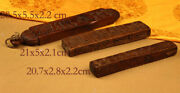 @ Mystery 3p 19th Century Old Antique Tibet Carved Wooden Zanpars Temple-board @
