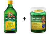 Norwegian Mollers Tran Natural Omega 3 Fish Oil 500ml Bottle And 160 Softgels 2in1