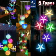 5 Types Solar Wind Chimes Color Changing Hanging Light Crafts Home Hanging Lamp