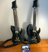 Guitar Hero Live Bundle Ps4 Playstation 4- Disc And 2 Guitars 2 Straps. No Dongles