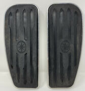 Pair Of Oem Yamaha Road Star Xv1700 Front Floorboards Foot Rests Peg Pads Steps
