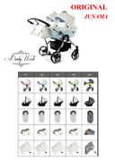 Junama Candy Duo Baby Buggy Stroller Twin Pram 2in1 3in1 Isofix Base