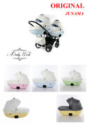 Junama Candy Duo Slim Baby Buggy Stroller Twin Pram 2in1 3in1 Isofix Base