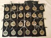 Set Of 24 John Deere Collectible Pewter Christmas Ornaments 1997-2020