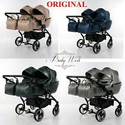 Junama Termo Duo Baby Kids Exclusive Stroller Twin Pram 2in1 3in1 Isofix Base