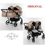 Junama Termo Duo Baby Kids Exclusive Stroller Twin Pram Carrycot Pushchair 2in1