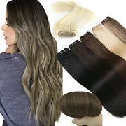 Weft Hair Extensions Sew In Weave Brazilian Remy Human Hair Natural Straight100g