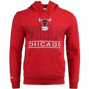 Mitchell And Ness Fleece Pullover Chicago Bulls Jersey 34 Mens Basketball - Multi
