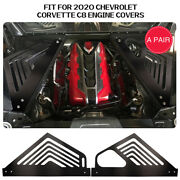 2pcs Oxidation Blackening Engine Covers For Corvette 2020 C8 Appearance