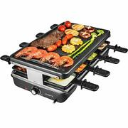 Aoni Raclette Table Grill Electric Korean Bbq Grill Indoor Cheese Raclette Fo...