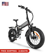 Electric Bike 750w 48v 17ah Mountain Bicycle Fat Tire Adults Mtb 20 In 9 Speed