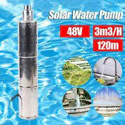 Deep Well Submersible Pump Solar Water Pump For Pond Fountain Pool 3mandsup3/h 120m