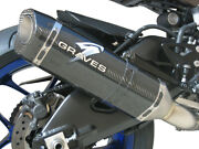 Carbon Fiber Slip On Exhaust W/ Link Pipe Graves Exy-15r1-cetc For Yamaha R1