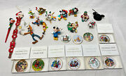 Lot Of 25 Disney Christmas Ornaments The Disney Collection Vintage Mickey 🎄