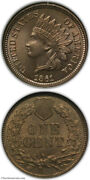 1861 Indian Head Cent Ngc Ms64 Cac
