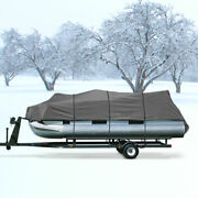 Heavy Duty Waterproof Pontoon Covers 20and039-24and039 Beam 102 Gray Storage Covers