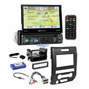 Soundstream Flip Out Dvd Gps Stereo Dash Kit Amp Harness For 2009-12 Ford F-150