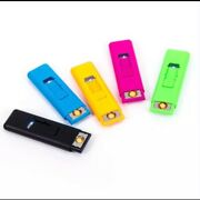 Bulk Sale 100 Lighters Rechargeable Andnbspwindproof Usb Electric Flameless Cigarette
