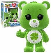 Funko Pop Care Bears Good Luck Bear Flocked Spring Convention Exclusive 355