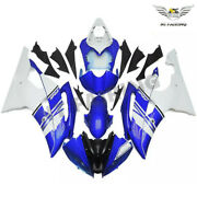 Ft New Blue White Injection Abs Fairing Kit Fit For 2008-2016 Yamaha Yzf R6 S086
