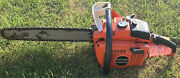 """Rare Vintage Echo Cst-610evl Twin Cylinder Chainsaw 18"""" Great Shape"""