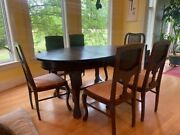 Antique Dining Room Table And Chairs
