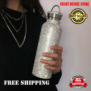Diamond Thermos Bottle Water Bottle Stainless Steel Sparkling Double Wall New